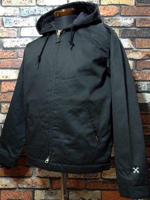 BLUCO ブルコ  フード付きワークジャケット (OL-011-018) hoodie work jacket  カラー:ブラック