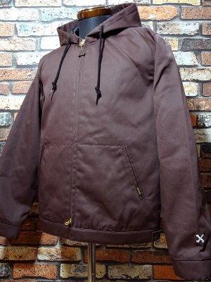 BLUCO ブルコ  フード付きワークジャケット (OL-011-018) hoodie work jacket  カラー:ブラウン