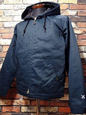 BLUCO ブルコ  フード付きワークジャケット (OL-011-018) hoodie work jacket  カラー:ネイビー