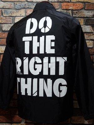 RealMinority リアルマイノリティー コーチジャケット (Do the right thing) カラー:ブラック
