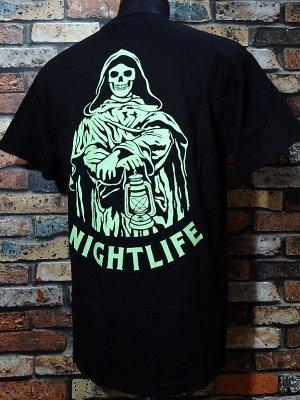 SKETCHY TANK スケッチータンク Tシャツ (night life) カラー:ブラック