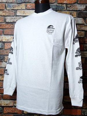 SKETCHY TANK スケッチータンク ロングスリーブTシャツ (lurkers L/S) カラー:ホワイト