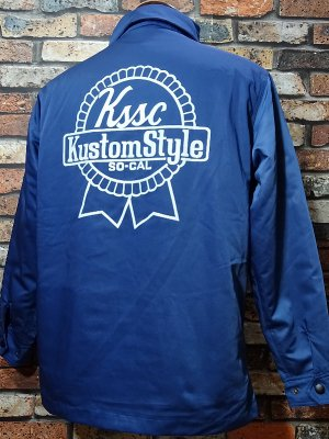 kustomstyle カスタムスタイル ワークジャケット(KSHWJ1105BL) BREWING COMPANY nylon boa lined hw jacket カラー:ブルー