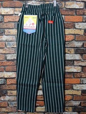 Cookman クックマン Chef Pants シェフパンツ ルーズフィット イージーパンツ (PinStripe) コックパンツ カラー:グリーンxホワイト