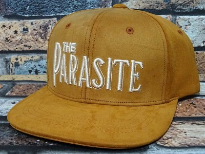 parasite パラサイト フェイクレザー スナップバックキャップ (THE PARASITE) カラー:ブラウン