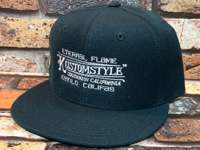 kustomstyle カスタムスタイル  スナップバックキャップ (KSCP1901GR) eternal flame snap back cap カラー:グリーン