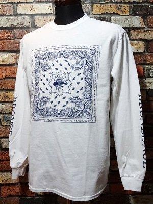 BRONZE AGE ブロンズエイジ ロングスリーブTシャツ (bandana) カラー:ホワイト