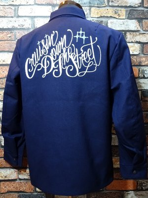 kustomstyle ワークジャケット(KSLWJ1902NY) cruisin down the street hopsack light weight jacket カラー:ネイビー