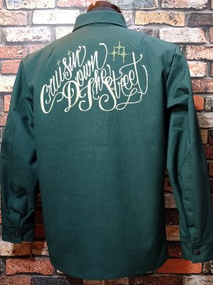 kustomstyle ワークジャケット(KSLWJ1902GR) cruisin down the street hopsack light weight jacket カラー:グリーン