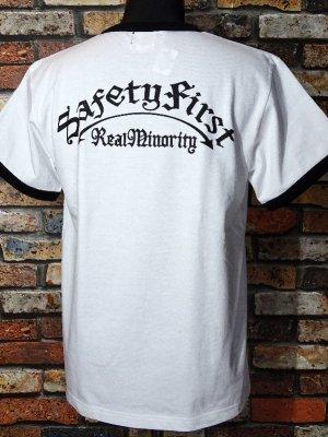 RealMinority リアルマイノリティー  リンガーTシャツ (SafetyFirst) カラー:ホワイト
