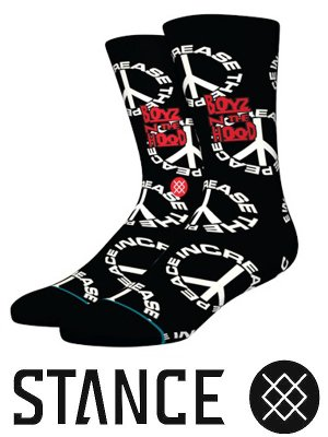 STANCE SOCKS スタンスソックス  (INCREASE THE PEACE) カラー:ブラック