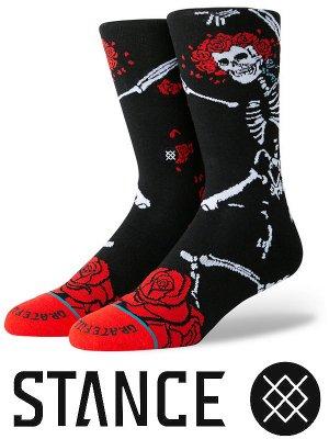 STANCE SOCKS スタンスソックス  (DEAD HEAD) カラー:ブラック