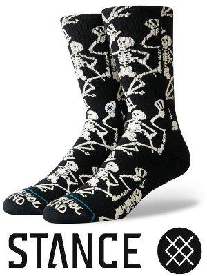 STANCE SOCKS スタンスソックス  (GRATEFUL SKULLS) カラー:ブラック