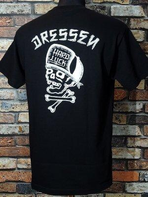 Hard Luck ハードラック  Tシャツ (DRESSEN SKULL) カラー:ブラック