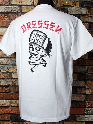 Hard Luck ハードラック  Tシャツ (DRESSEN SKULL) カラー:ホワイト