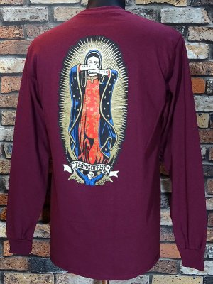 Hard Luck ハードラック ロングスリーブTシャツ (lady guadalupe) カラー:ワイン