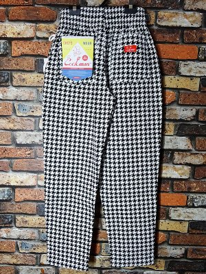 Cookman クックマン Chef Pants シェフパンツ ルーズフィット イージーパンツ (Big Cidori) コックパンツ カラー:ブラックxホワイト