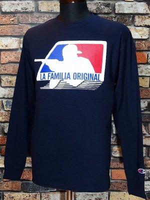 LA FAMILIA ORIGINAL ラ ファミリアオリジナル ロングスリーブTシャツ (BOYZ) カラー:ネイビー