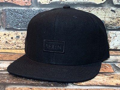 BRIXTON ブリクストン  スナップバック キャップ  (RIFT MP SNAPBACK CAP) カラー:ブラック
