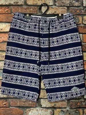 kustomstyle カスタムスタイル バンダナ柄 イージーショーツ (KSSP1904NY) bandana border easy shorts カラー:ネイビー