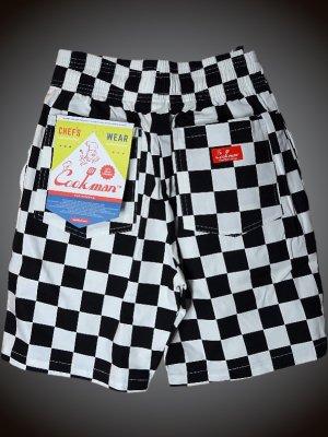 Cookman クックマン ルーズフィット イージー ショートパンツ (Checker) カラー:ブラックxホワイト