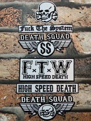 DEATH SQUAD デススクアッド ワッペン セット 1