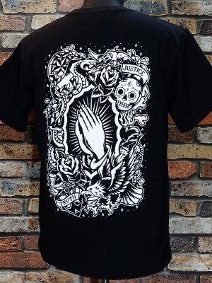 kustomstyle カスタムスタイル Tシャツ (KST0602BK) praying hands カラー:ブラック