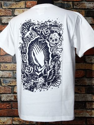 kustomstyle カスタムスタイル Tシャツ (KST0602WH) praying hands カラー:ホワイト