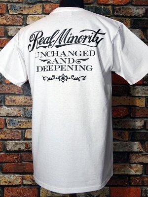 RealMinority リアルマイノリティー  Tシャツ (U&D) カラー:ホワイト