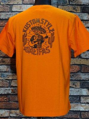 kustomstyle カスタムスタイル Tシャツ (KST1823OR) califas カラー:オレンジ