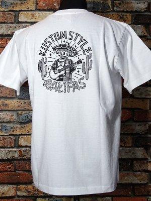 kustomstyle カスタムスタイル Tシャツ (KST1823WH) califas カラー:ホワイト