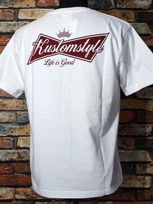 kustomstyle カスタムスタイル Tシャツ (KST1816WH) BUD カラー:ホワイト
