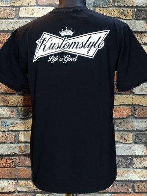 kustomstyle カスタムスタイル Tシャツ (KST1816BK) BUD カラー:ブラック