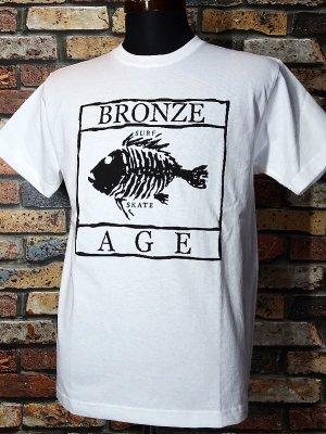 BRONZE AGE ブロンズエイジ Tシャツ (SKULL FISH) カラー:ホワイト