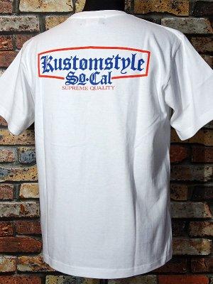 kustomstyle カスタムスタイル Tシャツ (KST1712WHOR) supreme quality カラー:ホワイト