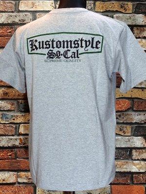 kustomstyle カスタムスタイル Tシャツ (KST1712GYGR) supreme quality カラー:グレー