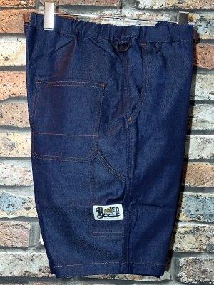 Bluco ブルコ  ストレッチイージーペインターショーツ (OL-005D-019) easy painter shorts カラー:インディゴ