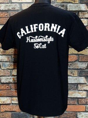 kustomstyle カスタムスタイル ポケット付Tシャツ (KSTPO1805BK) CALIFORNIA  カラー:ブラック