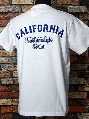 kustomstyle カスタムスタイル ポケット付Tシャツ (KSTPO1805WH) CALIFORNIA  カラー:ホワイト