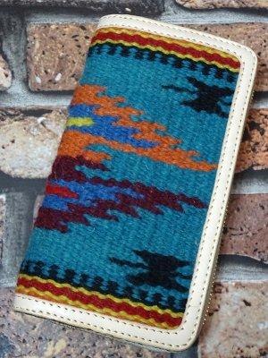 OLD POINT オールドポイント ラウンドファスナーウォレット El Paso エルパソ社製 生地使用 -A