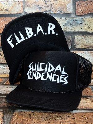 suicidal tendencies スイサイダルテンデンシーズ メッシュキャップ F.U.B.A.R. カラー:ブラック