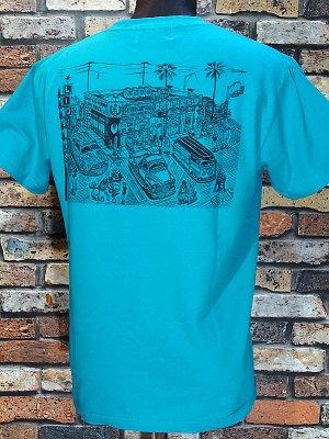 kustomstyle カスタムスタイル Tシャツ (KST1826PGR) local liquor カラー:ピーコックグリーン