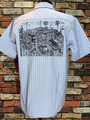 kustomstyle カスタムスタイル 半袖ワークシャツ (KSSWS1826LBL) local liquor work shirts  カラー:ライトブルー