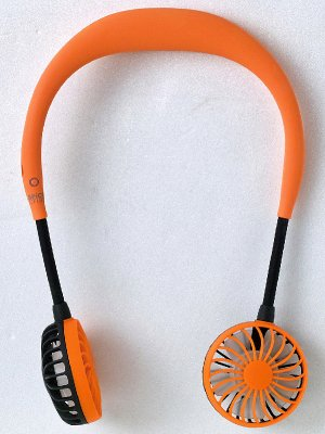 SPICE スパイス Wfan ダブルファン ハンズフリー ポータブル扇風機 カラー:オレンジ
