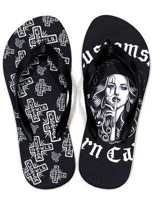 kustomstyle カスタムスタイル ビーチサンダル(KSBS1825) hermana beach sandal カラー:ブラック