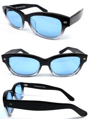 kustomstyle カスタムスタイル サングラス (KSSG014BKGRLB) RUFFxTUFF SUNGLASS  カラーブラック/クリア×ブルー