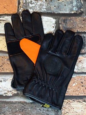 LOSER MACHINE ルーザーマシーン  レザーグローブ (Death Grip Leather Gloves) カラー:ブラック×オレンジ