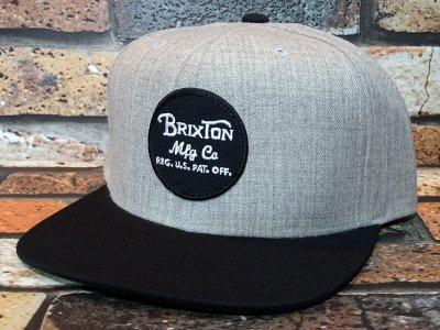 Brixton ブリクストン スナップバック キャップ wheeler snap back cap  カラー:グレー×ブラック