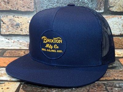 Brixton ブリクストン メッシュキャップ (WHEELER MESH CAP) カラー:ネイビー