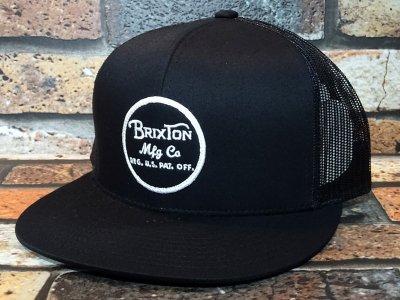 Brixton ブリクストン メッシュキャップ (WHEELER MESH CAP) カラー:ブラック